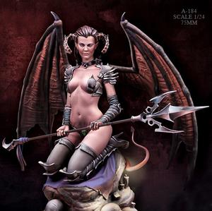 64 ▲ レジン モデル 1/24 樹脂 フィギュアキット 女性悪魔 ▲ モデル 未塗装 未組み立て A-184