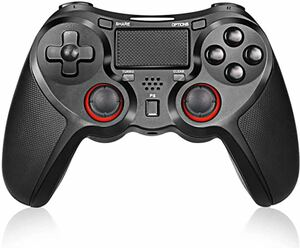 PS4 コントローラー ワイヤレスコントロ ーラー PS4 Pro/Slim PC対応 HD振動 連射 ゲームパッド