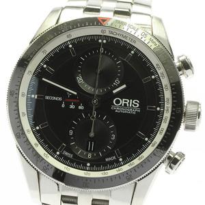 ☆良品★保証書付き【ORIS】オリス アーティックス GT クロノグラフ 7661-14 自動巻き メンズ