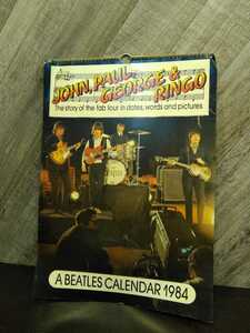 C1139 THE BEATLES ビートルズ 1984年 カレンダー レトロ 発送 定形外 全国送料一律350円