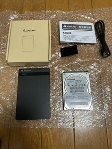 TOSHIBA 東芝 2.5インチHDD 640GB SALCAR 2.5インチケース セット