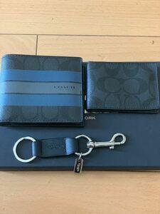 COACH コーチ メンズ 財布 札入れ カードケース キーリング