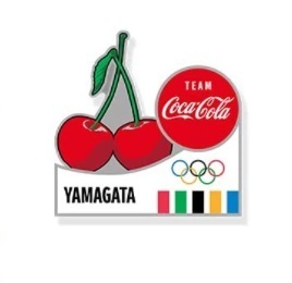 コカ・コーラ オリンピック聖火リレー 都道府県ピン 山形 さくらんぼ 非売品