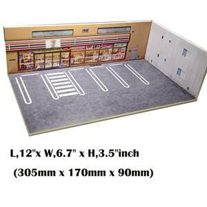 1 / 64 DIYジオラマモデルカー71風景背景ディスプレイ4駐車場ジオラマ