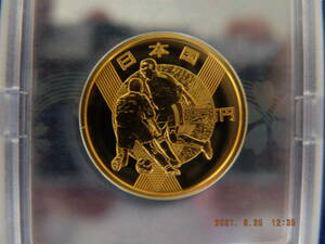 2002 FIFA日韓 ワールドカップ記念1万円金貨プルーフ K24 15.6g 化粧箱ケース付き 未使用美品 送料無料