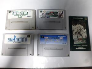スーパーファミコン ファイナルファンタジーⅣ & ファイナルファンタジーUSA & 聖剣伝説2 & フロントミッション(説明書付き)