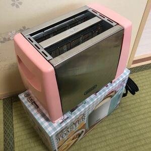 モーニングポップアップトースター ピンク色