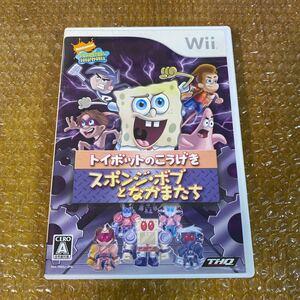 Nintendo Wii ソフト スポンジ・ボブとなかまたち トイボットのこうげき レア 希少