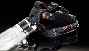 電池付属なし(18650 リチウムイオン)* 3 LEDライト付きヘッドライト