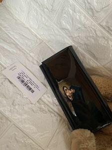 ヴィヴィアンウエストウッド Vivienne Westwood 長財布 フラップ ビッグオーブ エナメルレザー ブラック 63VV507