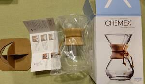 CHEMEX ケメックス コーヒーメーカー フィルタードリップ式  6Cup CM-6A 箱入り