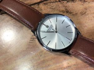 BK076 程度良好 SWISS MILITARY スイスミリタリー SWISS MADE PRIMO プリモ SM14847M シルバー クオーツ メンズ 腕時計