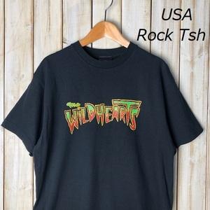 バンドT・ロックT USA古着 00s The Wildhearts ワイルドハーツ Tシャツ M UK ハードロック オールド アメリカ古着 ワイハ メタル 黒 ●52
