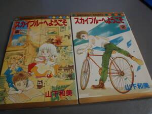 スカイブルーへようこそ 全2巻(1987初版)山下和美 マーガレットコミックス