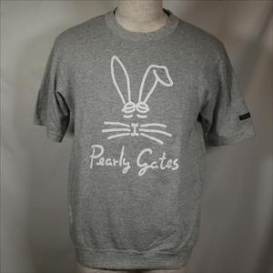PEARLY GATES パーリーゲイツ 半袖スウェット サイズ4 うさぎ 半袖Tシャツ グレー/508114622