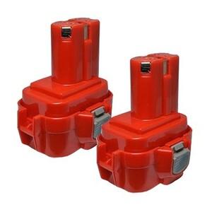 2個セット マキタ(makita) 電動工具用 互換 ニカドバッテリー 9.6V 1.3Ah 9120 9122 9100 9100A 9101A 9102 対応