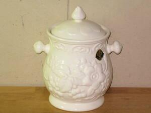 送料無料 蓋付き陶器 高さ約22cm 白い園 WHITE LOVE 日本陶芸 NT ORIGINAL
