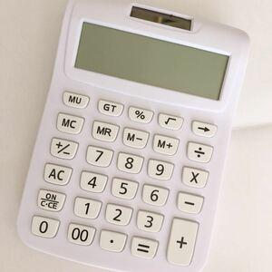 スタンダード電卓 ソーラータイプ 12桁 ミニジャストタイプ 計算機 電卓