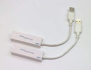 LOGITEC USB2.0/イーサネット(100BASE-TX、10BASE-T)対応LANアダプター LAN-TXU2C 2個セット/中古品