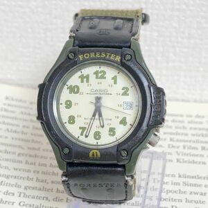★CASIO ILLUMINATOR メンズ 腕時計 ★カシオ イルミネーター FT-500 3針 デイト ブラック×カーキ 稼動品 F5244