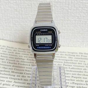 美品 ★ CASIO デジタル 多機能 腕時計 ★ カシオ LA-670W アラーム クロノ タイマー シルバー 稼動品 F5311