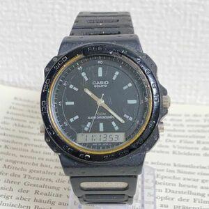 ★ CASIO デジアナ 多機能 メンズ 腕時計 ★ カシオ ARW-310 3針 アラーム クロノ ブラック 稼動品 F5405