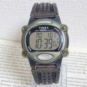 ★TIMEX EXPEDITION デジタル 多機能 腕時計 ★ タイメックス エクスペディション アラーム クロノ タイマー 稼動品 F5459