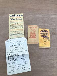 カーターズ カータース  ヴィンテージ アンティーク ビンテージ ワークウェア タイムブック アメリカ製 アメリカ雑貨