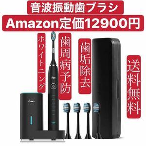 電動歯ブラシ 音波歯ブラシ 替えブラシ4本 6種類のモード 2分間オート