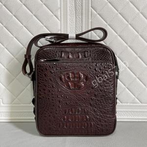 新品 シャムクロコダイル ワニ革本物◆多機能 2way 斜め掛け ショルダーバッグ メンズバッグ◆ボディバッグ 通勤 鞄