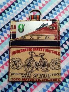 カードケース 定期入れ 昭和レトロ 帆布 マッチ柄 OR 廃盤レア柄 ハンドメイド