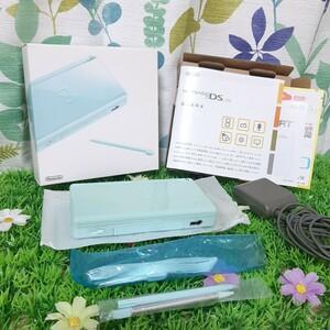 【美品】 DS Lite ニンテンドーDS Lite Nintendo DS Lite アイスブルー 水色  充電器