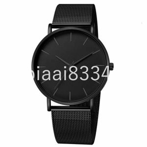 DM022:高級時計男性メッシュ超薄型ステンレス鋼クォーツ腕時計男性時計リロイ hombre レロジオ masculino