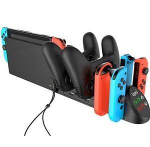 Nintendo スイッチ 充電スタンド 4台ジョイコン 2台プロコン 同時充電