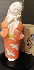 【531】☆★【蔵出】博多人形 夢 ふみお作 日本人形 伝統工芸品 陶器 骨董 置物 アンティーク レトロ 置物 オブジェ インテリア★☆