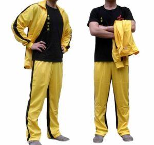 ◆新品◆ブルース・リー 風 ジャージ 上下セット イエロー コスチューム コスプレ衣装♪サイズS~XXXL CC00198