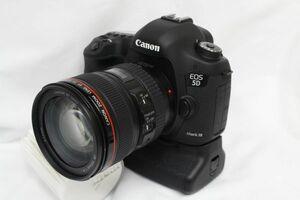 ★美品シャッター5029回★ Canon キャノン EOS 5D MarkIII mk3/EF 24-105mm F4L IS USM/BG-E11グリップ 210829Y(NT)