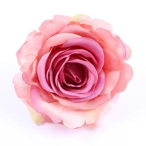 コサージュ/大きめ 薔薇 はんなりお花 安全ピン ヘアクリップ c33☆ローズピンク/髪飾り ヘアアレンジ 花火大会 浴衣 帯留め 結婚式