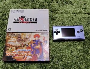 ゲームボーイ ミクロ 本体 GBA ファイアーエンブレム 封印の剣 ファイナルファンタジー6