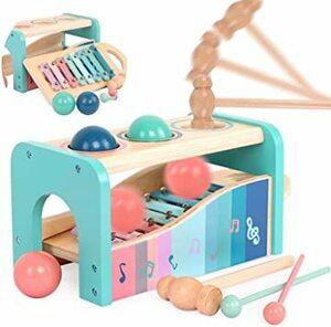 Jecimco 音楽おもちゃ 子供 パーカッション セット 早期開発 知育玩具 男の子 女の子 誕生日のプレゼント オクターブ