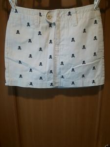 ラルフローレン ラグビー 刺繍スカル ミニスカート 送料210円