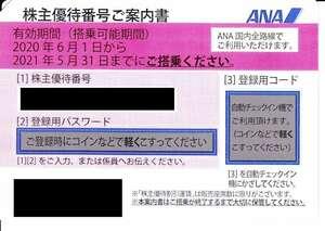 期限延長2021.5.31⇒11.30迄 ANA☆全日空 株主優待 運賃割引券 1-3枚