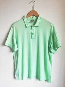 90s VERSACE グリーン ポロシャツ ヴィンテージ 半袖 緑 ヴェルサーチ