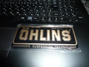 オーリンズ アルミ製 OHLINS エンブレム サスペンション 車高調 未使用 即決 送料無料