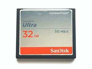 【2枚限り】☆美品☆ CFカード 32GB サンディスク ウルトラ SanDisk Ultra コンパクトフラッシュ CompactFlash Card