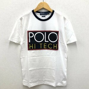 未使用 POLO RALPH LAUREN / JERSEY HI TECH TEE ポロ ラルフローレン / ハイテック ロゴ クルーネック Tシャツ ホワイト XS