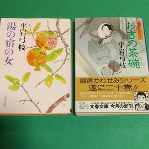 時代小説「湯の宿の女」+「御宿かわせみ (20) お吉の茶碗」平岩 弓枝 (著) 2冊セット