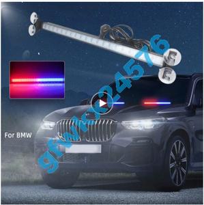 フラッシャー 警察 LEDライト フラッシュライト 自動点滅 パトカー ストロボライト 自動車ランプ 赤色青色 CC269 フロントガラス 警告灯