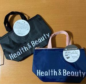 保冷バッグ エコバッグ Health&Beauty ブラック ネイビー ピンク
