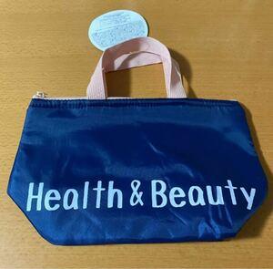 保冷バッグ エコバッグ Health&Beauty ネイビー ピンク